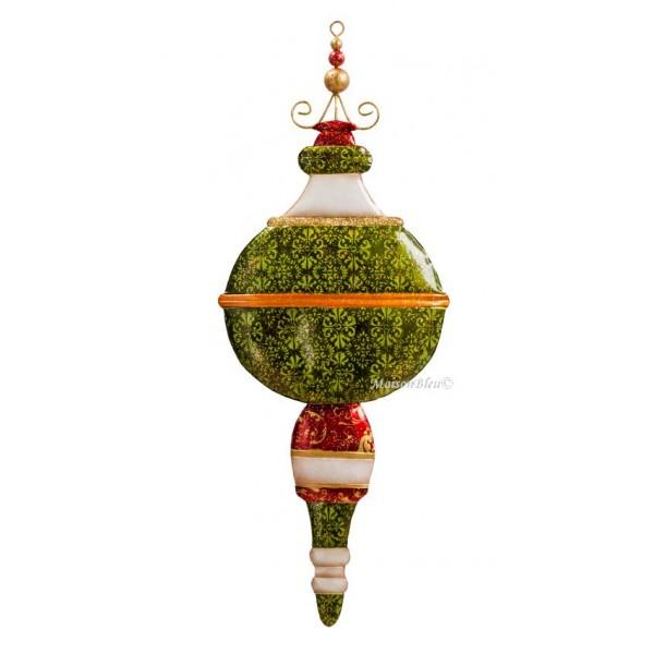 Palloncino di Natale Maxi verde decorazione da appendere