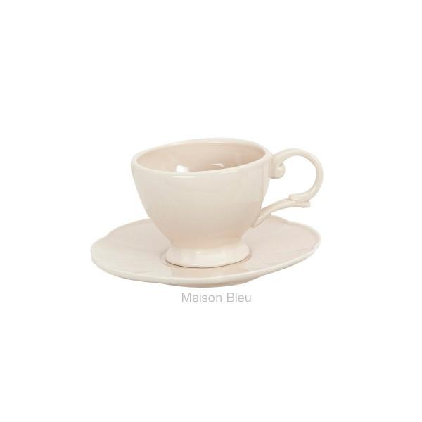 Tazza caffè ceramica beige ''Corolla''