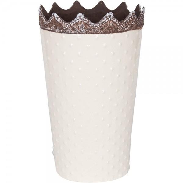 Vaso bianco ceramica h. 25