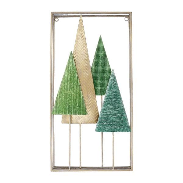 Quadro decorazione Alberi Verdi Metallo