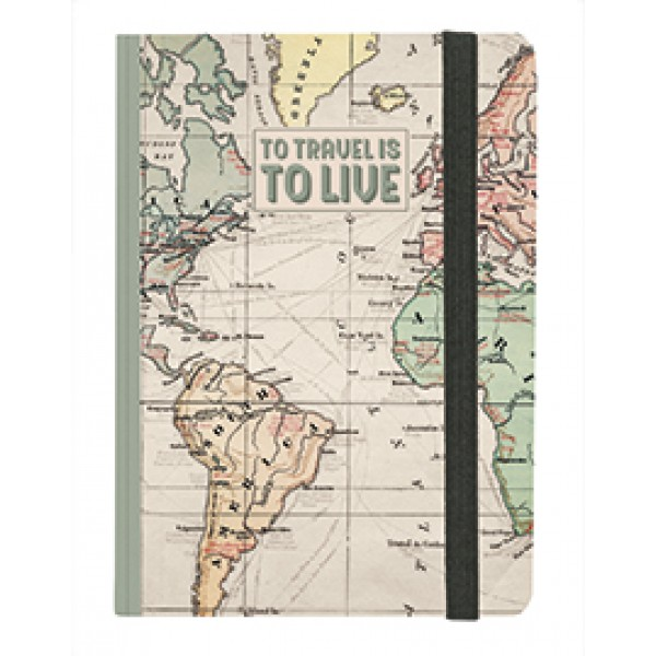 Notebook Grande To Travel is to Live