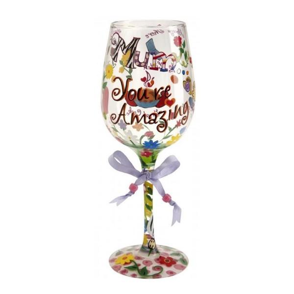 Mum you're Amazing Bicchiere Vino