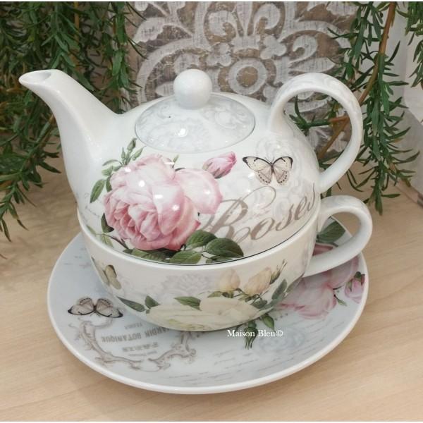 Tazza e teiera Tea for One Roses